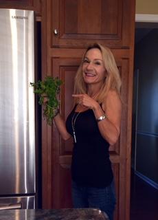 holding cilantro