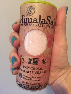 pink salt hand