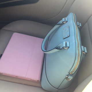 car purse and ipad