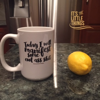 mug and lemon