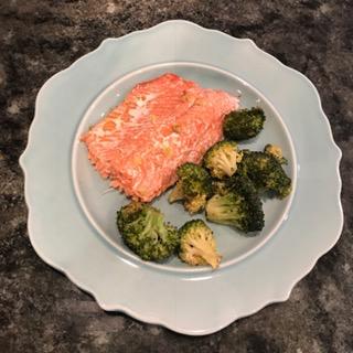 asian salmon plate
