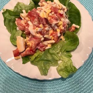 BLT egg salad plate