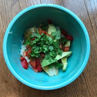 fish tacos bowl