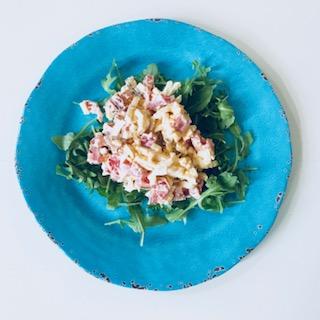 blt egg salad blue plate